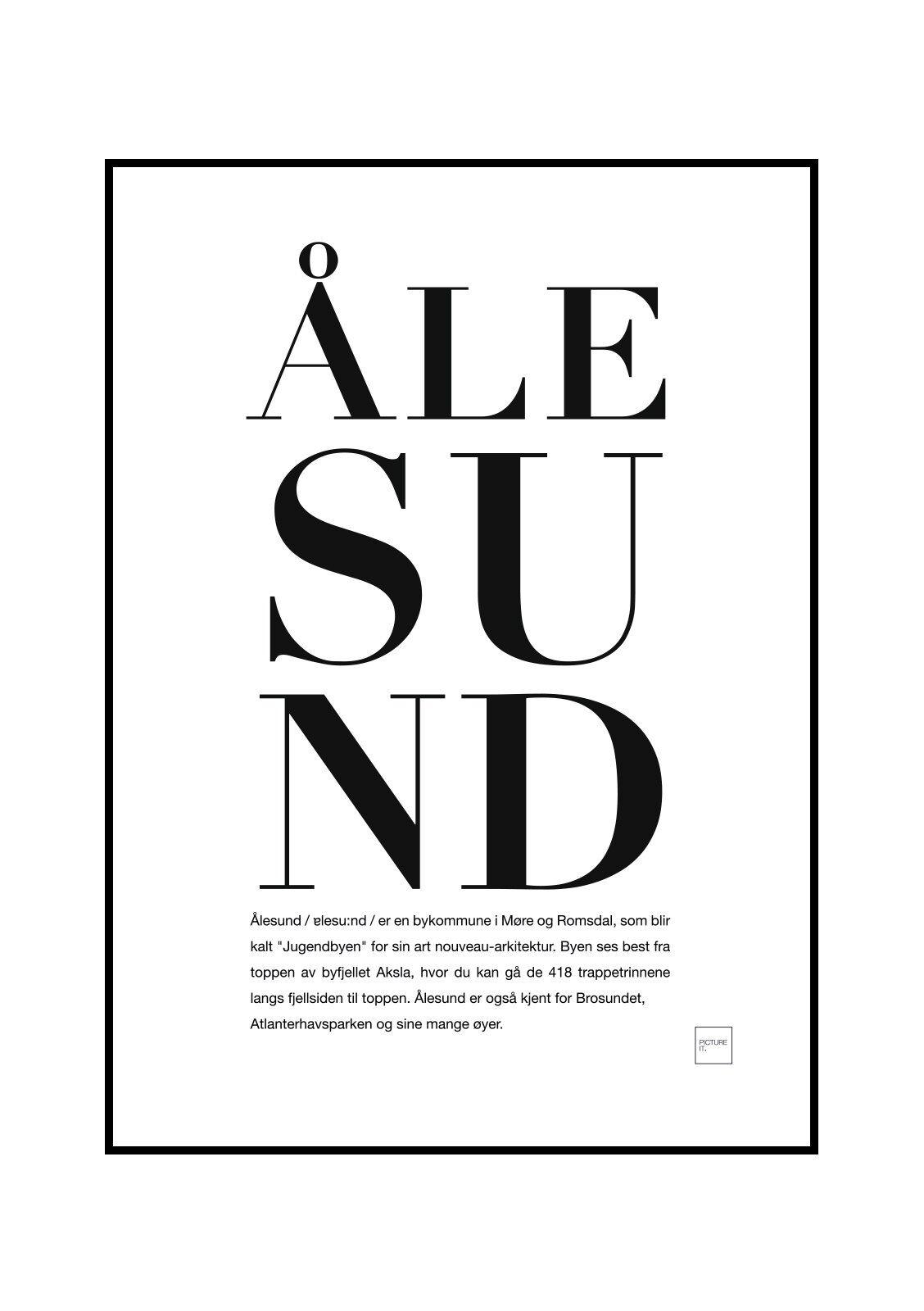 pictureit ÅLESUND poster - Last ned - 199,-