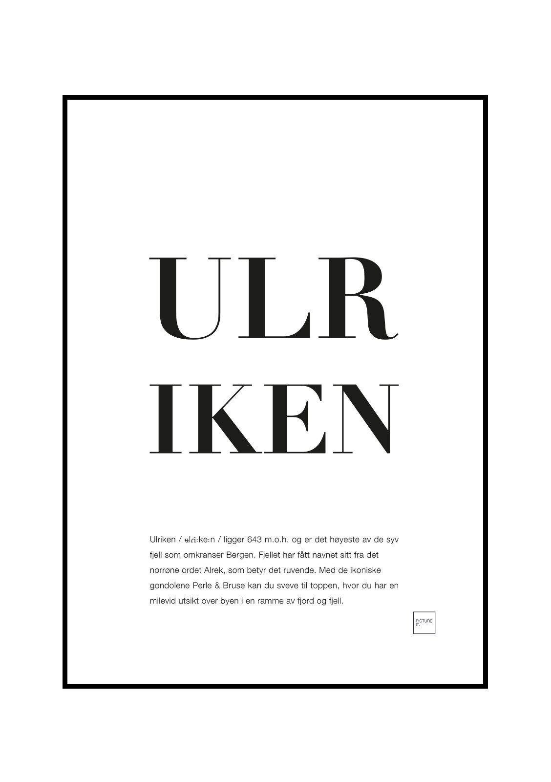 pictureit ULRIKEN - Last ned - 199,-