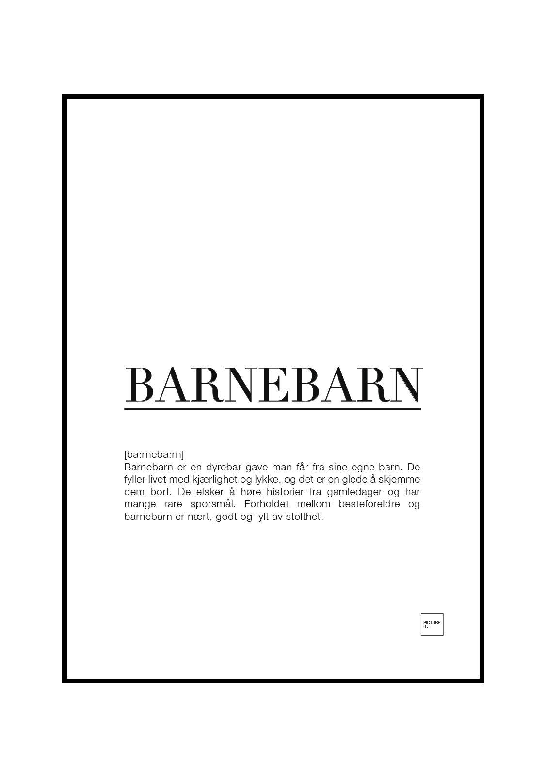 pictureit BARNEBARN poster - Last ned - 199,-