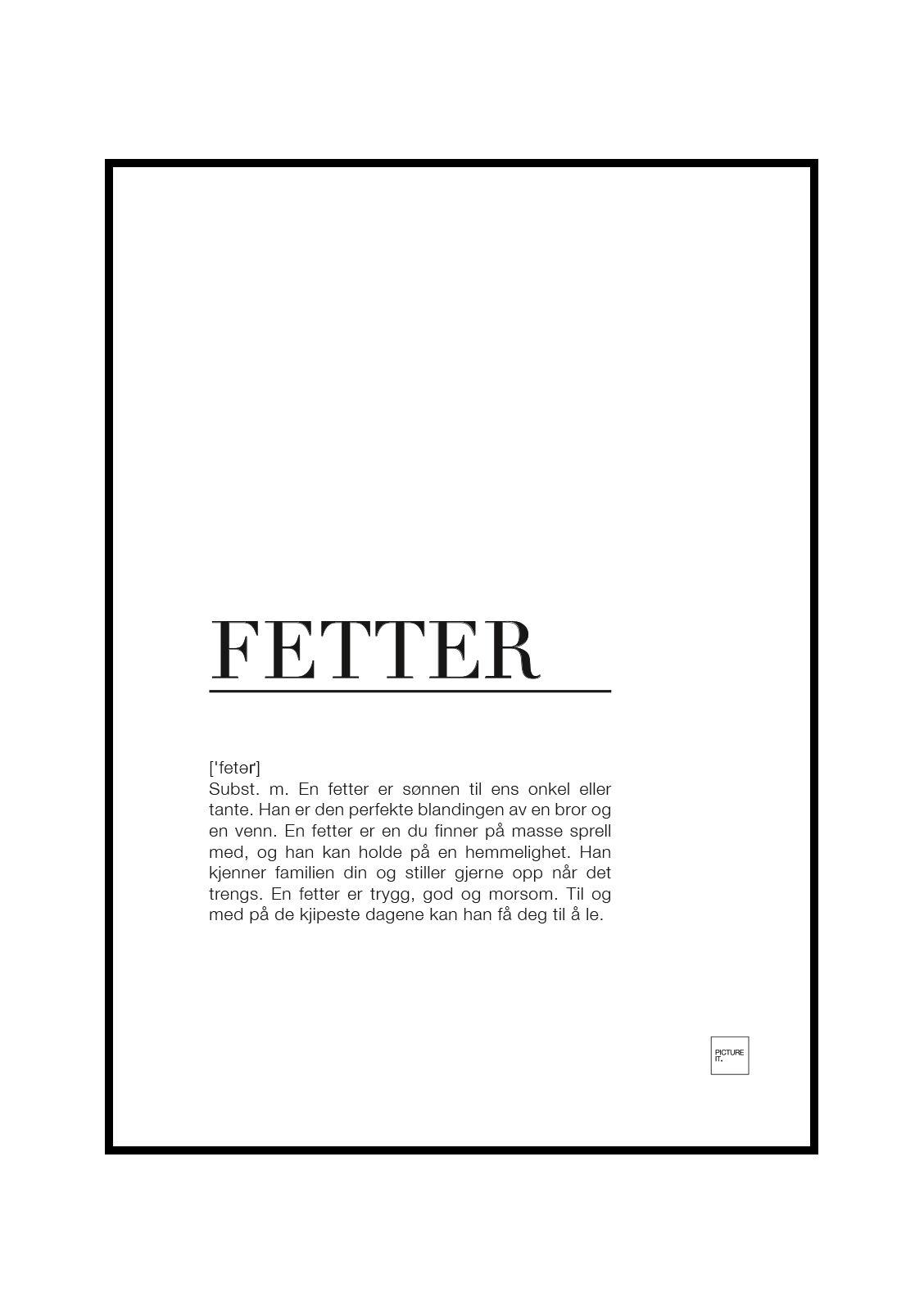 pictureit FETTER poster
