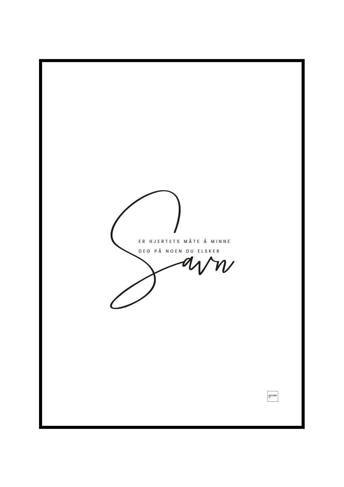 pictureit SAVN poster - Last ned - 199,-
