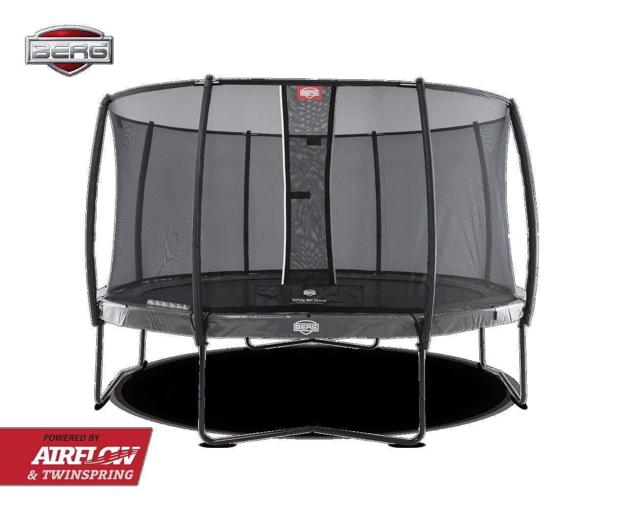 BERG Elite Trampoline 330cm Grå med Deluxe sikkerhettsnett