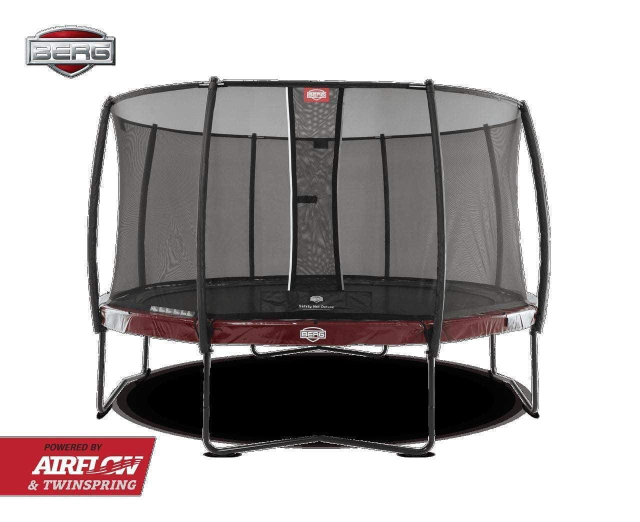 BERG Elite Trampoline 430cm Rød med Deluxe sikkerhettsnett
