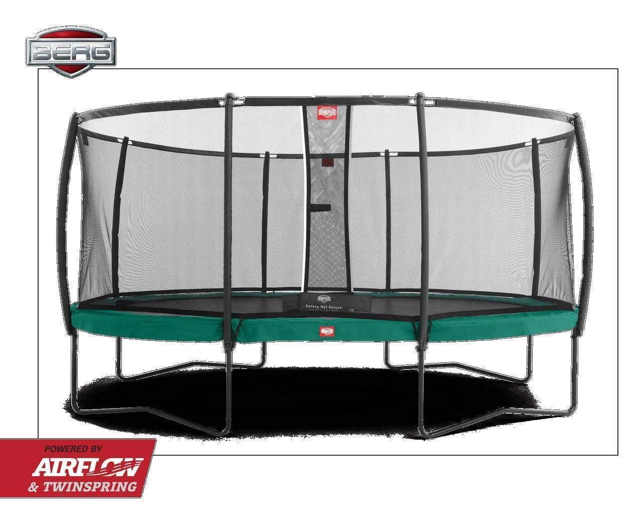 BERG Grand Champion Trampoline, Oval 515x365cm med Deluxe nett