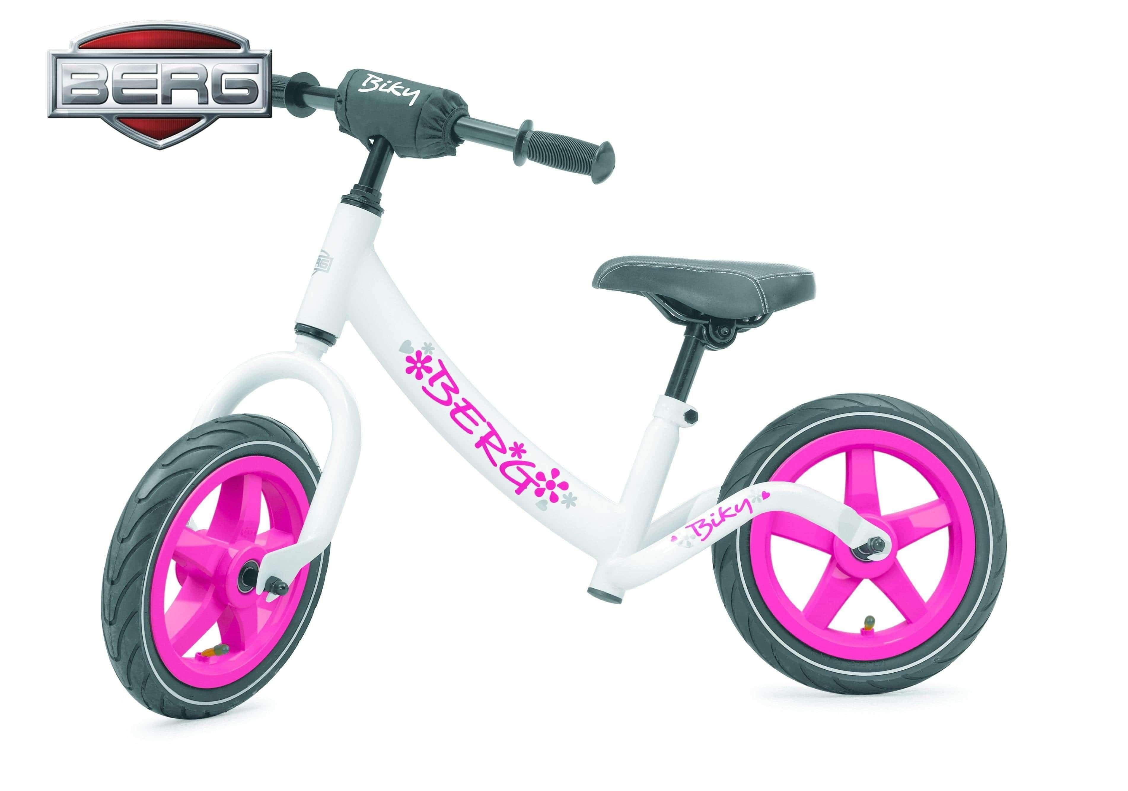 BERG Biky Løpesykle Hvit-Rosa