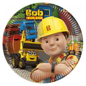Bob the Builder Byggmester Bob Tallerken 8 stk - 20cm