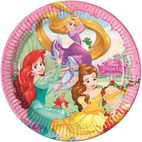 Disney Prinsessebursdag Papptallerkener 23cm - 8 stk