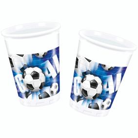 Football Fotball Kopper 8 stk Blå - 200ml