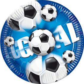 Football Fotball Papptallerkener 23cm - 10 stk