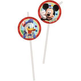 Mickey Mouse Mikke Mus Playful Sugerør - 6 stk