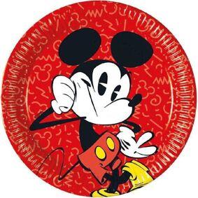 Mickey Mouse Mikke Mus Supercool Papptallerkener 23cm - 8 stk