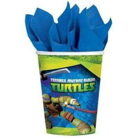 Ninja Turtles Kopper 8 stk - 266ml