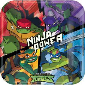 Ninja Turtles Papptallerkener 23cm - 8 stk