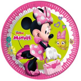 Minnie Mouse Minnie Mus Papptallerkener 23cm - 8 stk