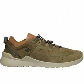 Keen Mens Highland Casual Trainers Dark Olive Plaza Taupe