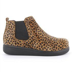 Green Comfort Happy Walking Chelsea Boot Leopard