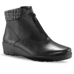 Mockasin Zipper Boots Winter Black