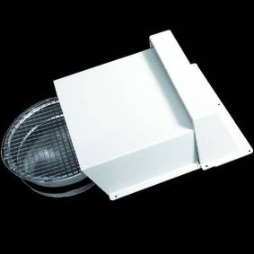 Flexit Avkast / uteluftkappe - Ø160 - hvit