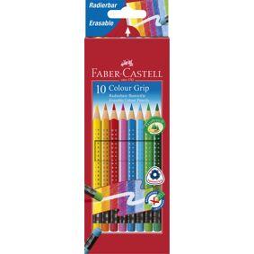 Fargeblyant Faber  Grip 10 Pk Med Viskelær