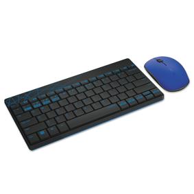 Trådløs mus og tastatur 8000M sort/blå