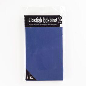 Bokbind elastisk 3 pk blå