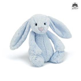 Kanin plysj 28cm blå Bashful