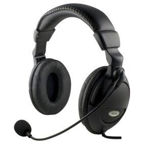DELTACO DELTACO headset med mikrofon og volumkontroll 2m kabel 6928858385008 Tilsvarer: N/A