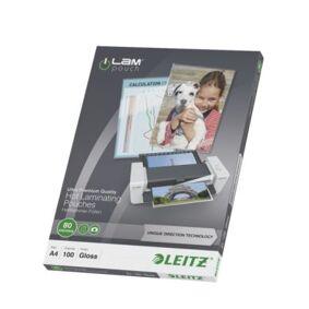 Leitz Lamineringslomme A4 UDT 80my Pakke/100 74780000 Tilsvarer: N/A