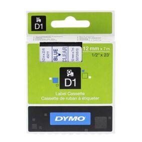 Dymo Merkebånd Dymo D1 12 mm, blå på gjennomsiktig S0720510 Tilsvarer: N/A