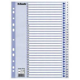 ESSELTE Register Esselte PP A4 1-31 Hvit 100139 Tilsvarer: N/A