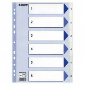 ESSELTE Register Esselte PP A4 1-6 Hvit 100133 Tilsvarer: N/A