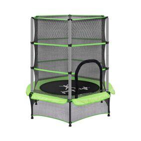 Uniprodo Trampoline for barn med sikkerhetsnett - 140 cm - 50 kg - grønn 10250372