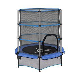 Uniprodo Trampoline for barn med sikkerhetsnett - 140 cm - 50 kg - blå 10250374