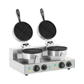 Royal Catering Vaffeljern - 2 x 1300 Watt - rund 10010316