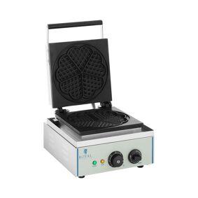 Royal Catering Vaffeljern - 1 x 1 500 Watt - hjerteformet 10010319