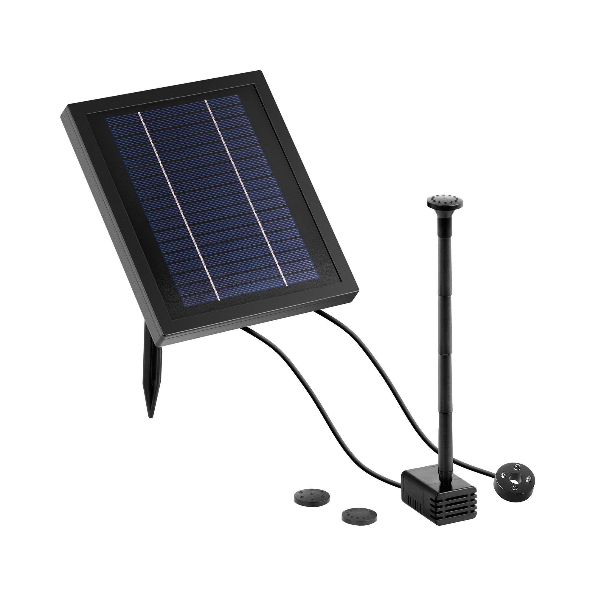 Uniprodo Solcelledrevet fontene - 250 L/h - LED 10250184