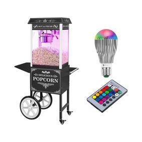 Royal Catering Popcornmaskin med vogn og LED-belysning i Retro-design - svart 18000310