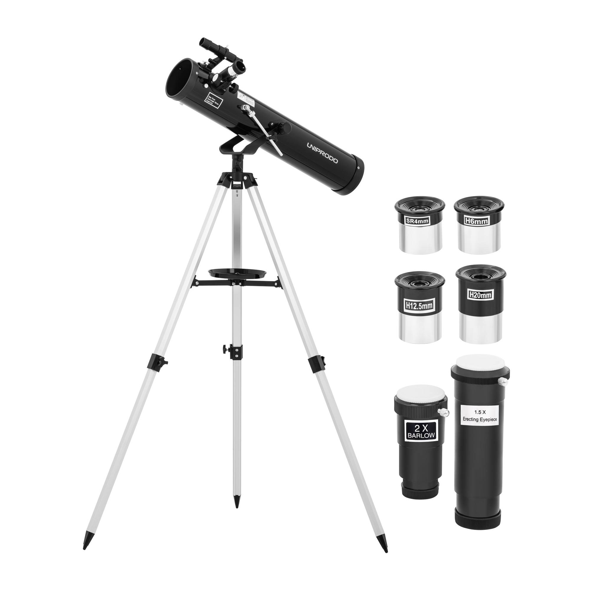Uniprodo Teleskop - Ø 76 mm - 900 mm - stativ 10250357