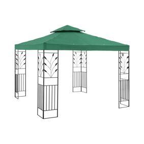 Uniprodo Paviljong - 3x3 m - 180 g/m² - mørkegrønn 10250039