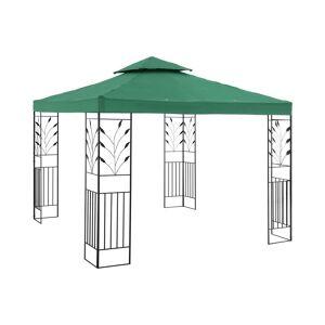 Uniprodo Paviljong - 3x3 m - 180 g/m² - mørkegrønn