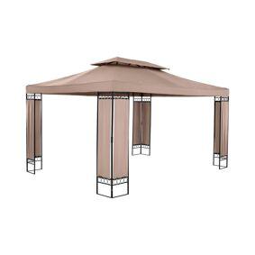 Uniprodo Gazebo Paviljong - 3 x 4 m - 160 g/m² - beige 10250439