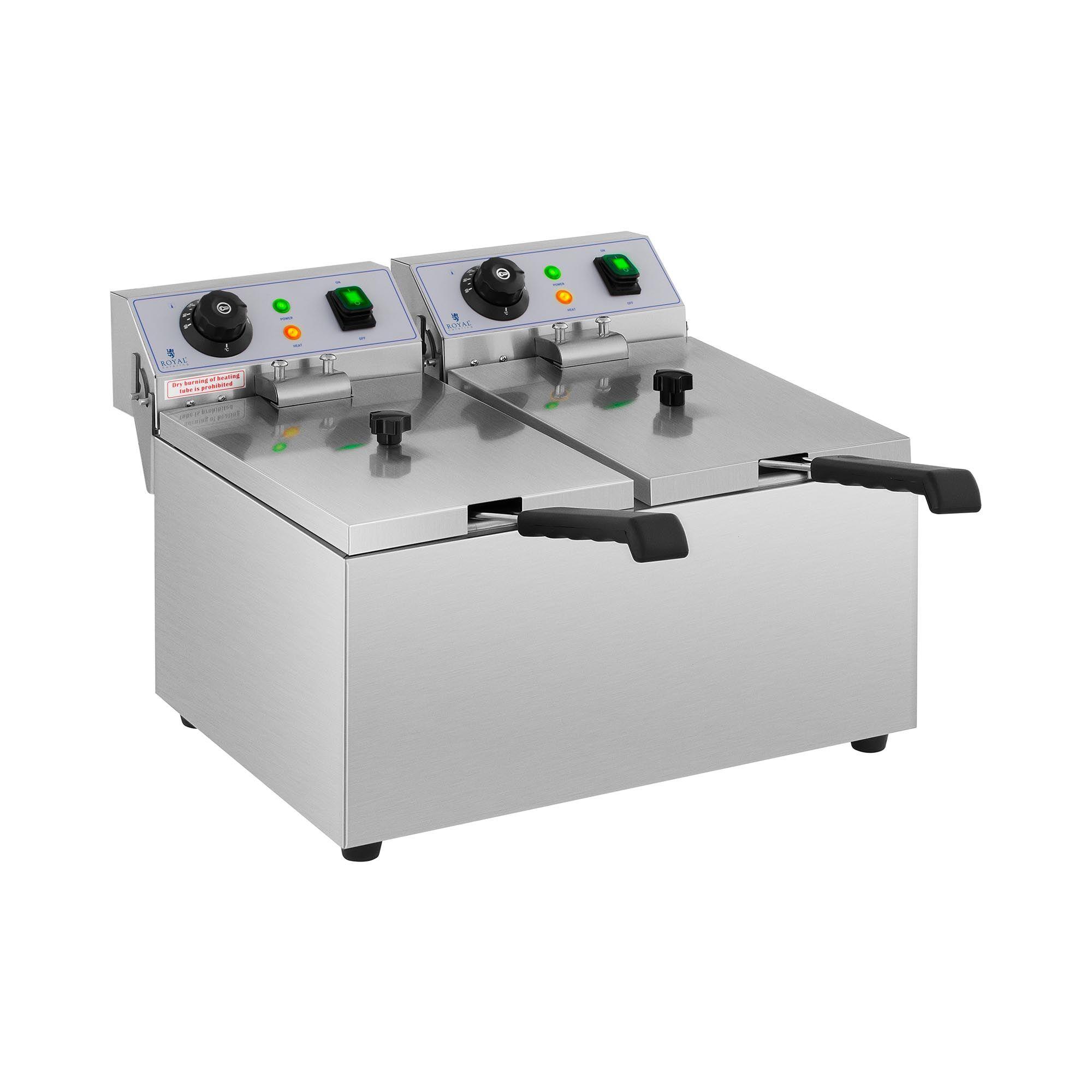 Royal Catering Elektrisk frityrkoker – 2 x 8 l – 230 V