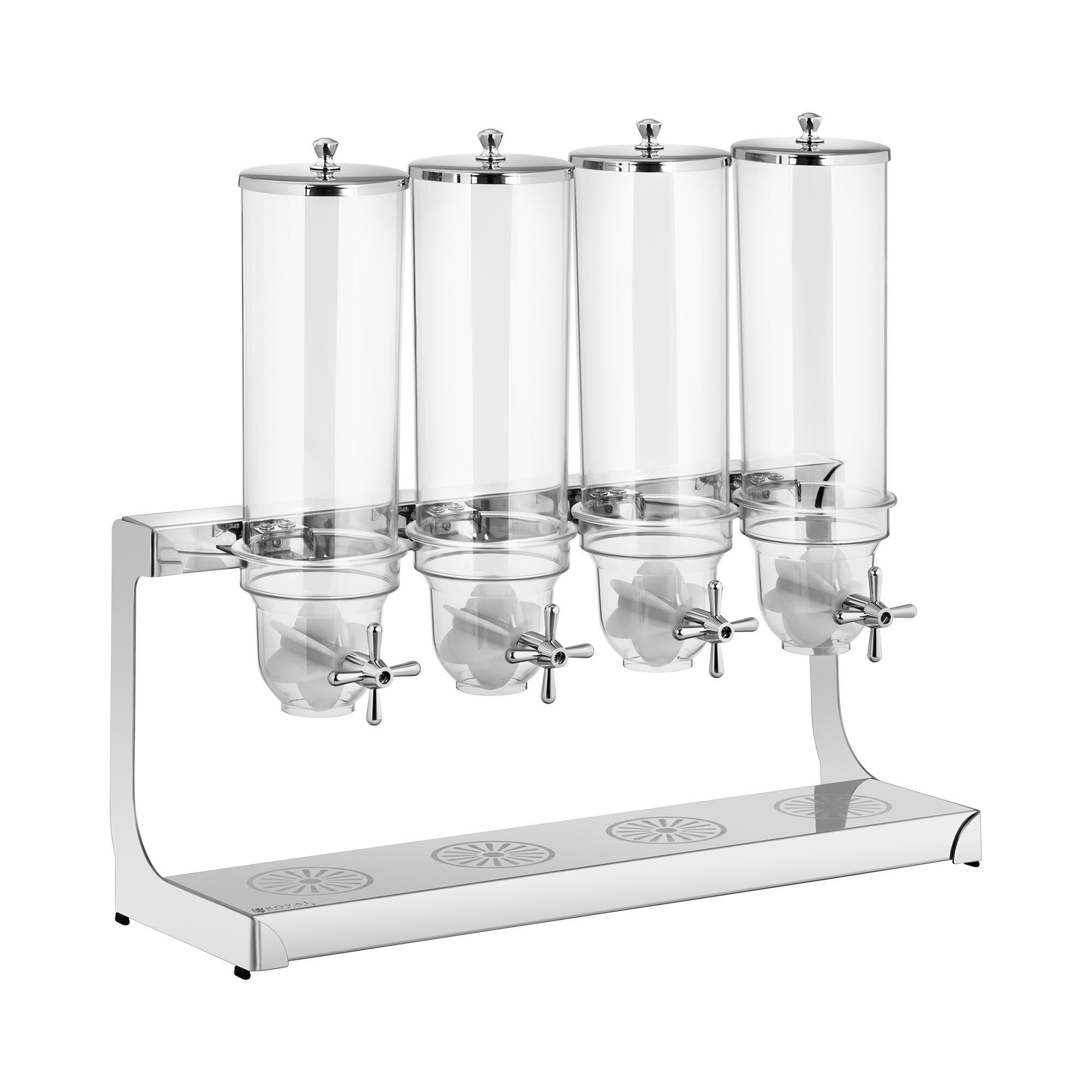 Royal Catering Frokostblanding-dispenser - 4 x 3.5 L - 4 beholdere