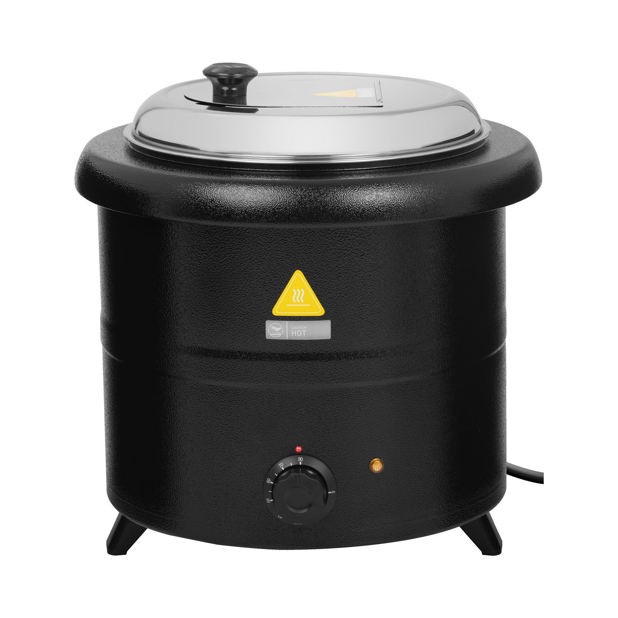 Royal Catering Elektrisk gryte for suppe - 13 L - 600 W - sort