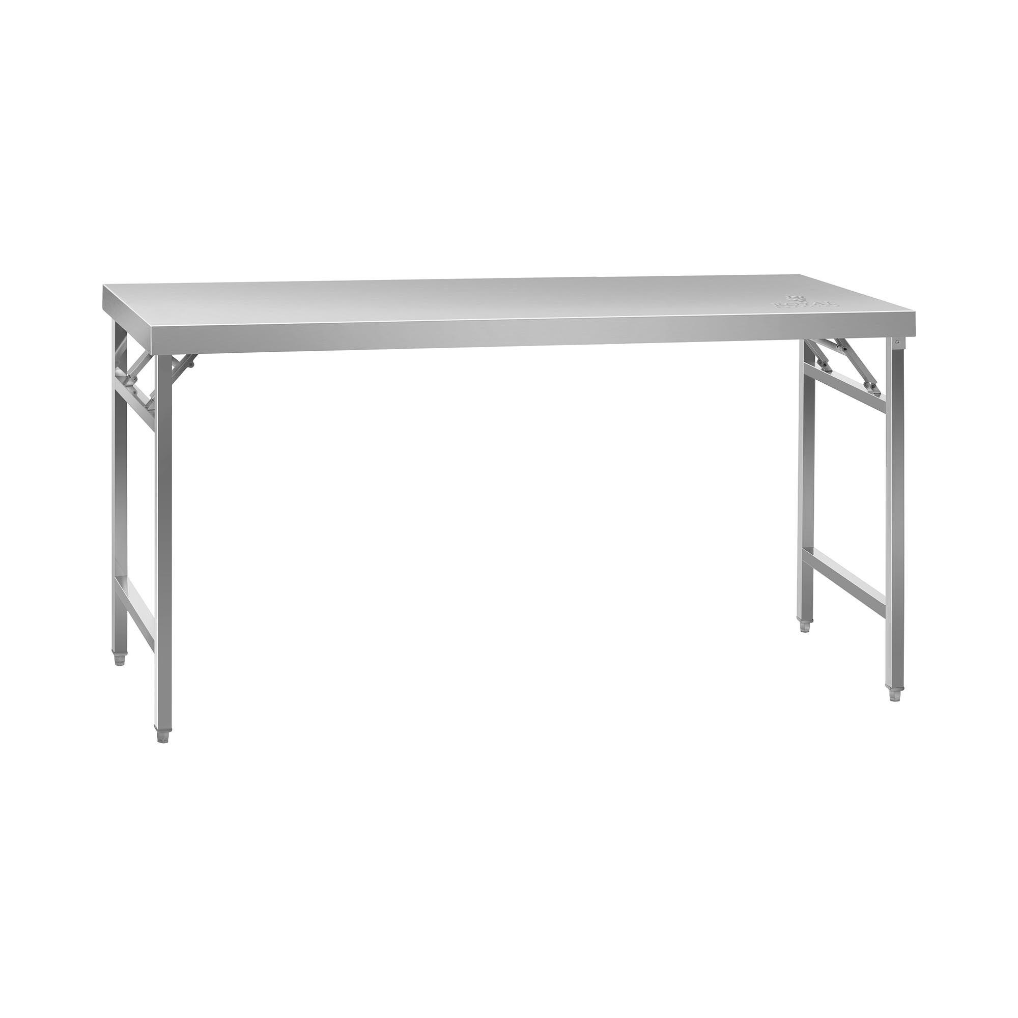 Royal Catering Sammenleggbart arbeidsbord - 60 x 180 cm - 230 kg bæreevne