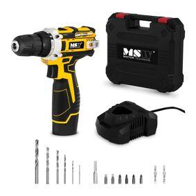MSW Borskrutrekker - 10,8 V - 1500 r/min - 25 Nm - Inkl. skrue- og borebits 10060751
