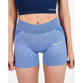 FAMME - Seamless Shorts - Melange Blue