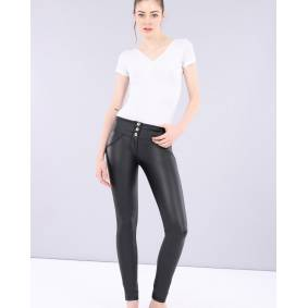 Freddy WR.UP Skinny Mid Waist Eco Faux Leather Pants - Black