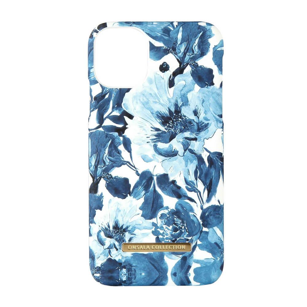ONSALA COLLECTION Mobildeksel Soft Indigo Peony iPhone 11