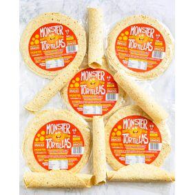 Monster Supersnacks Monster Lavkarbo Tortillas - PAKKETILBUD 30 LEFSER!